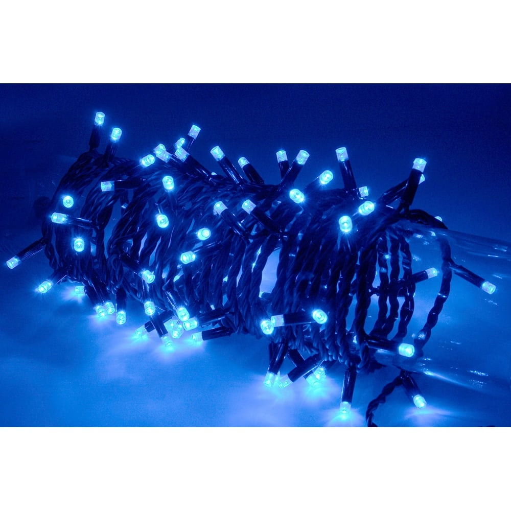 180 led outdoor string light with control blue from rimmers music. Black Bedroom Furniture Sets. Home Design Ideas
