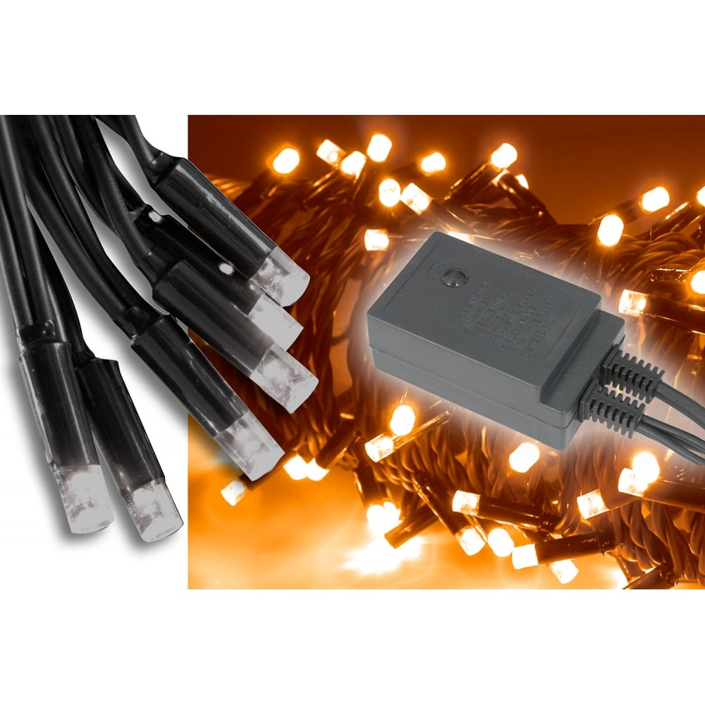 90 LED outdoor string light with control - Amber from Rimmers Music