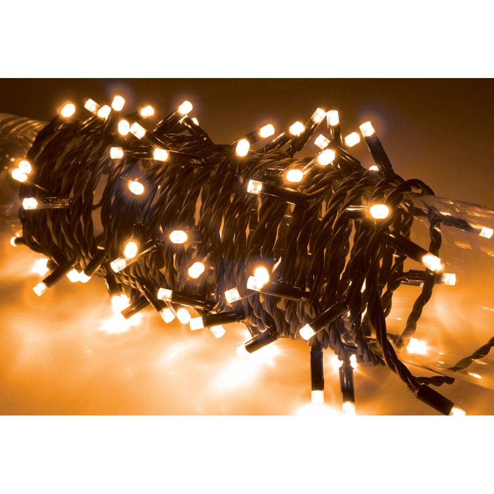 String Lights Music : 90 LED heavy duty static string light - Amber from Rimmers Music