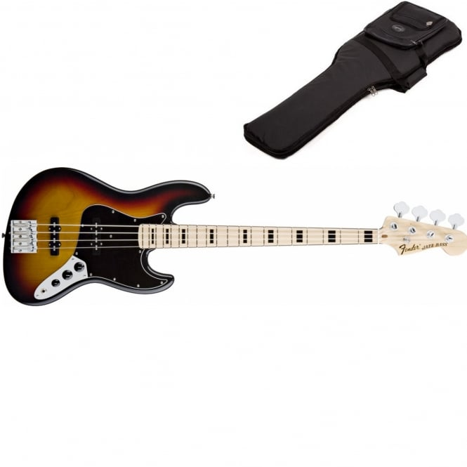 Geddy Lee Jazz Bass | Maple Fingerboard | 3-Color Sunburst | Includes Gigbag