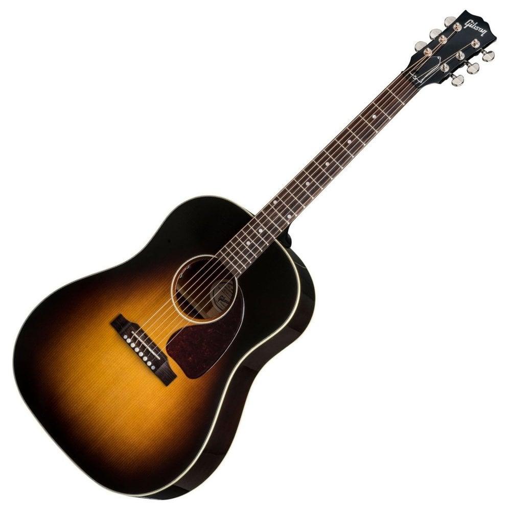 gibson acoustic 2018 j 45 standard guitar vintage sunburst. Black Bedroom Furniture Sets. Home Design Ideas