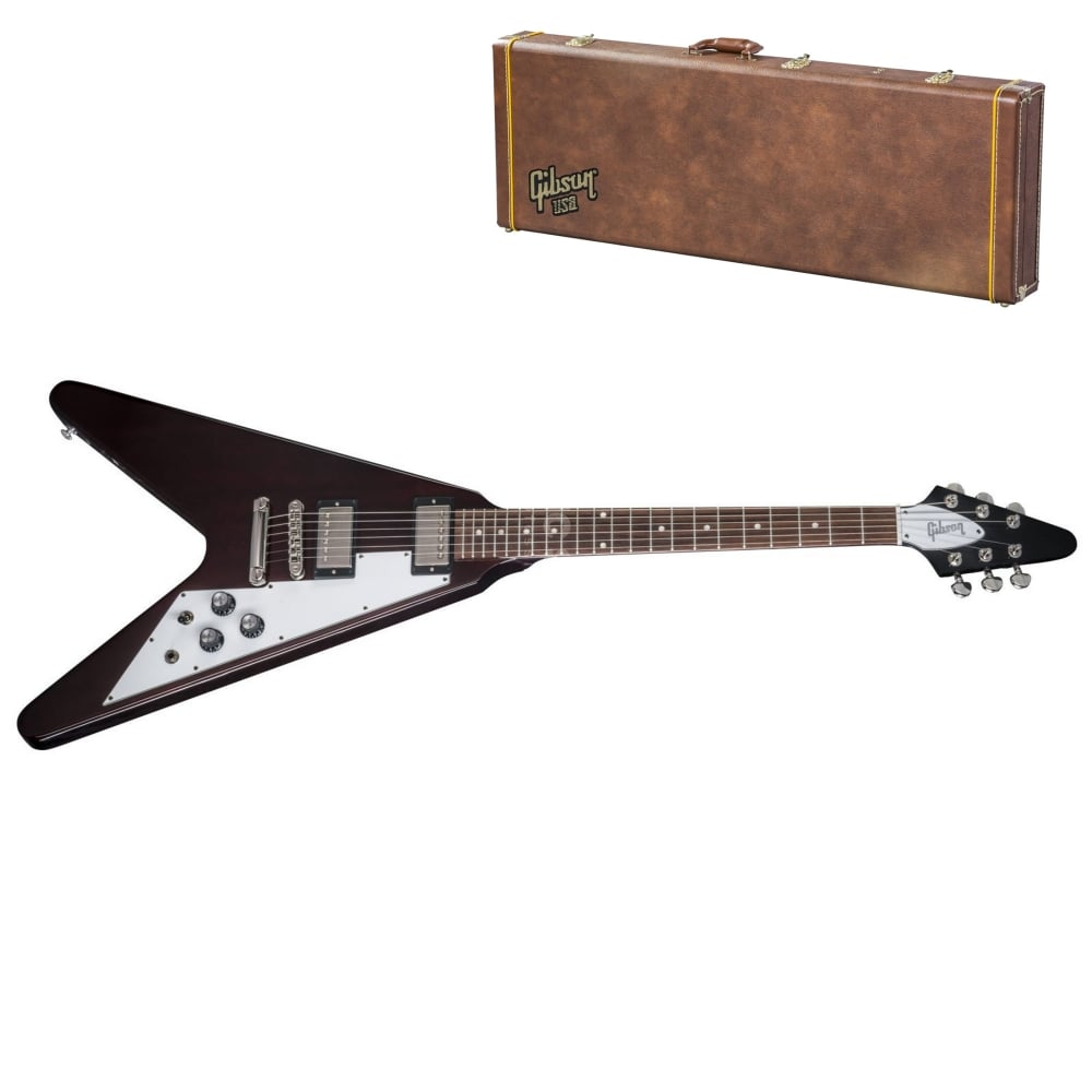 gibson flying v 2018 aged cherry guitar with uk mainland delivery. Black Bedroom Furniture Sets. Home Design Ideas
