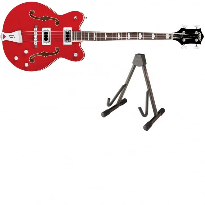 Gretsch G5442BDC Electromatic Hollow Body Bass Guitar | Red