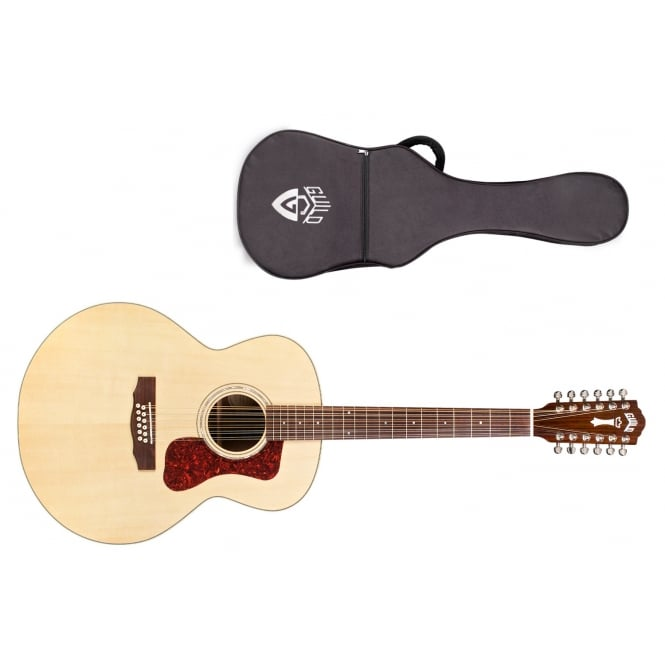 Guild F-1512 12 String Electro Acoustic Guitar | Natural