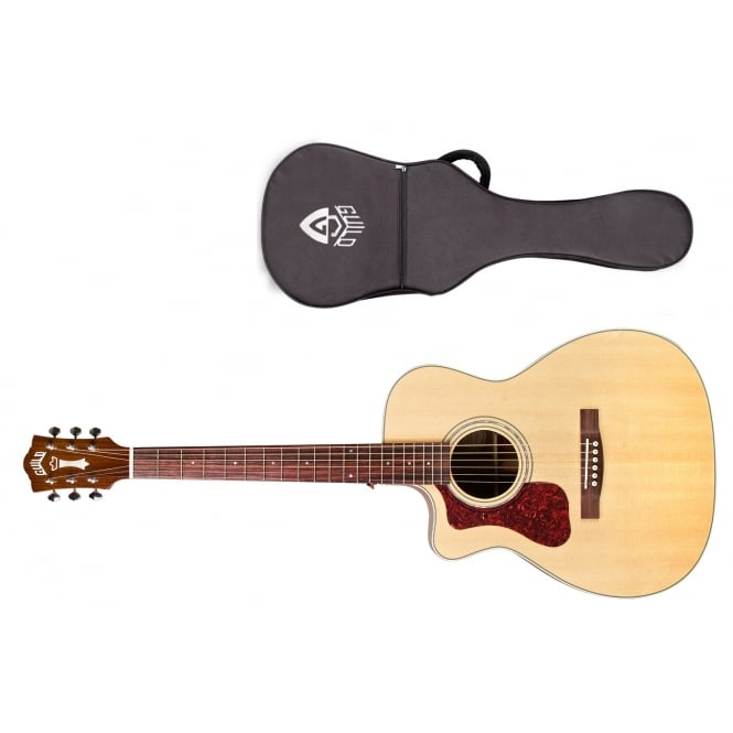 Guild OM-140CE Electro Acoustic Guitar | Left Handed | Natural