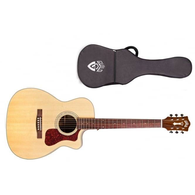 Guild OM-140CE Electro Acoustic Guitar | Natural