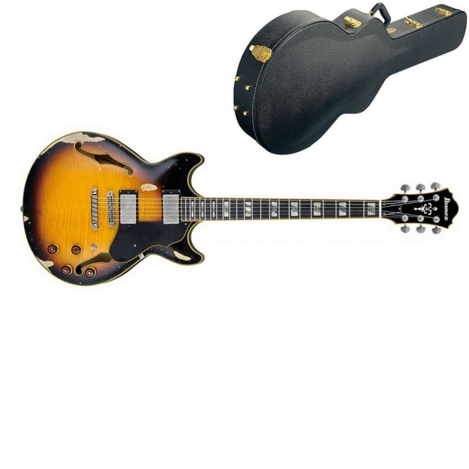 Ibanez ASV100FMD-YSL Electric Guitar | Distressed Yellow Sunburst