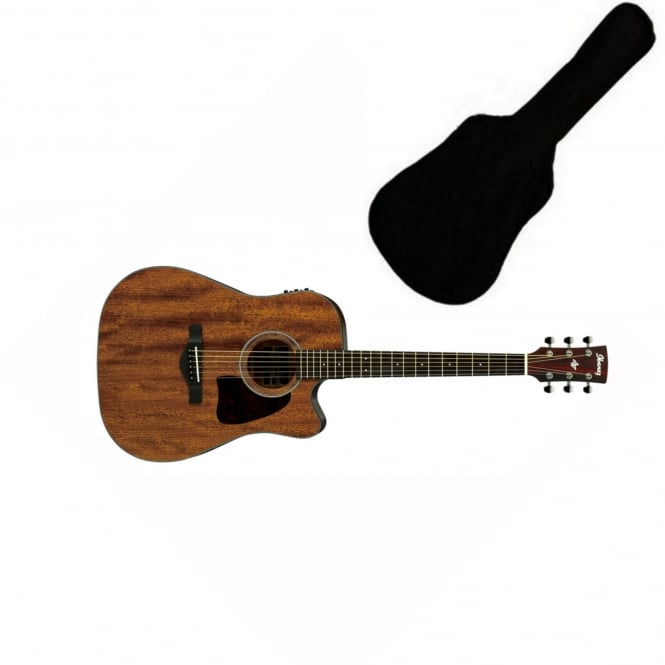 Ibanez AW54CE-OPN Electro Acoustic Guitar | Open Pore Natural