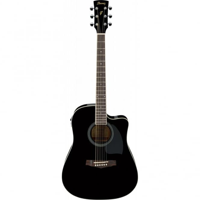 Ibanez PF15ECE-BK PF ELECTRO ACOUSTIC, Dreadnought cutaway, Spruce Top, Mahogany back & sides, Black