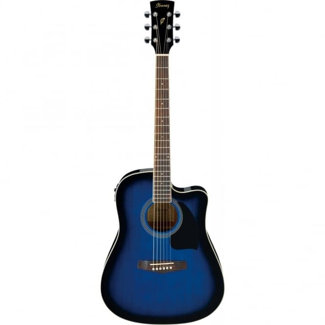 Ibanez PF15ECE-TBS PF ELECTRO ACOUSTIC, Dreadnought cutaway, Spruce Top, Mahogany back&sides, Trans Blue Burst