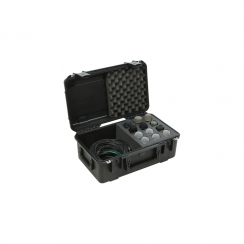 SKB iSeries Injection Molded Waterproof Case w/foam for (12) Mics w/storage compartment