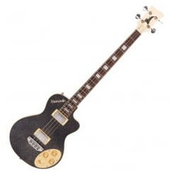ITALIA MARANELLO CLASSIC BASS - SPARKLE BLACK & GIG BAG