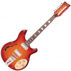 ITALIA RIMINI 12 - CHERRY SUNBURST AND GIG BAG