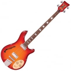 ITALIA RIMINI 4 BASS - CHERRY SUNBURST AND GIG BAG