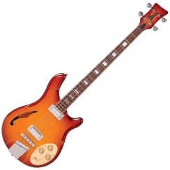 ITALIA RIMINI 4 BASS - HONEY SUNBURST AND GIG BAG