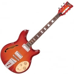 ITALIA RIMINI 6 - CHERRY SUNBURST AND GIG BAG