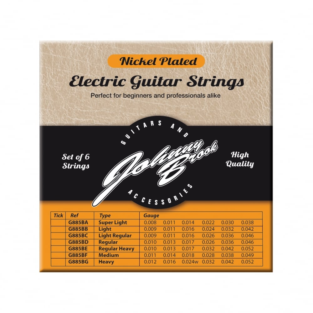 johnny brook nickel plated steel electric guitar strings set of 6. Black Bedroom Furniture Sets. Home Design Ideas