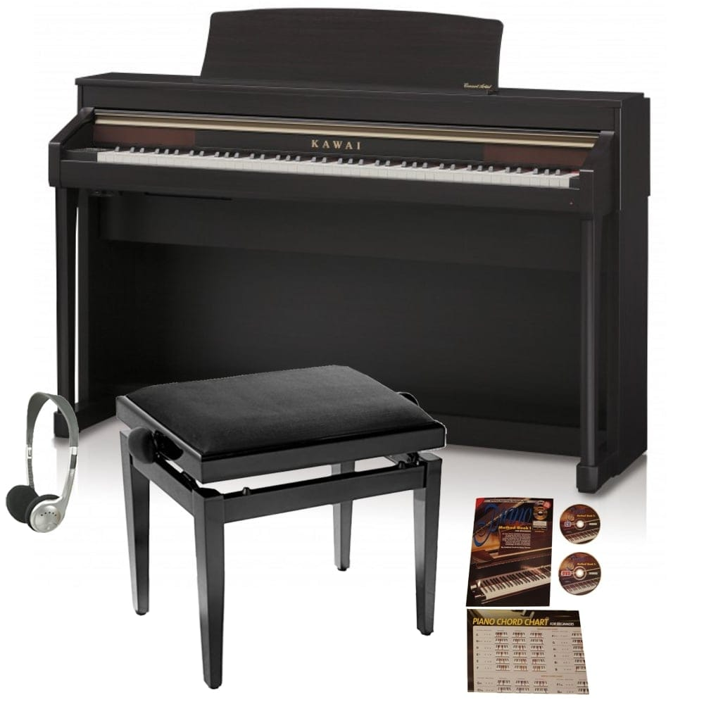 kawai ca 67 digital piano bundle rosewood from rimmers music. Black Bedroom Furniture Sets. Home Design Ideas