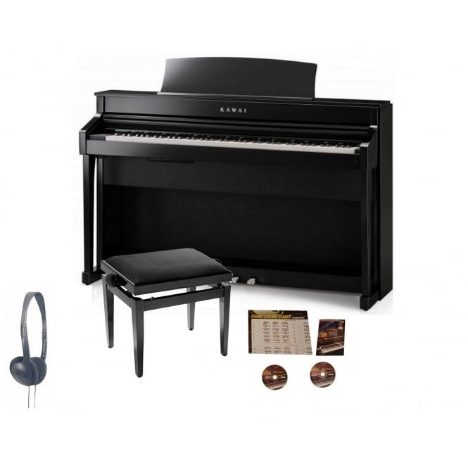 Kawai CS-8 Digital Piano Black Bundle