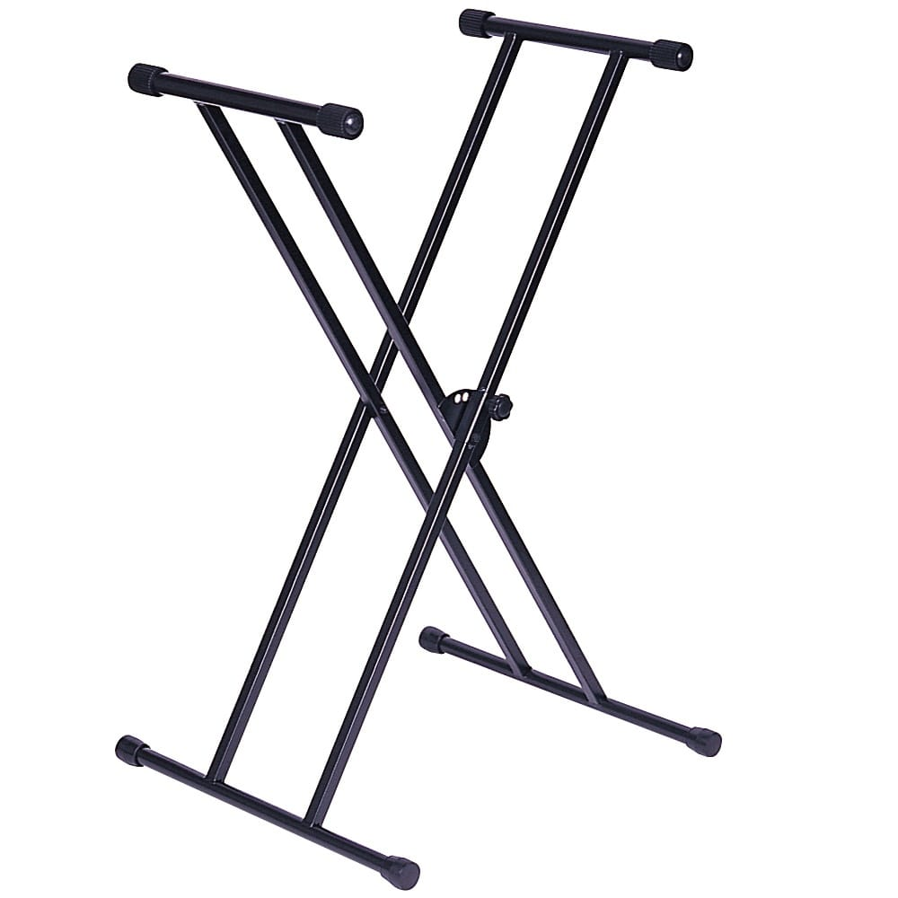 KINSMAN DOUBLE FRAME KEYBOARD STAND- BLACK from Rimmers Music