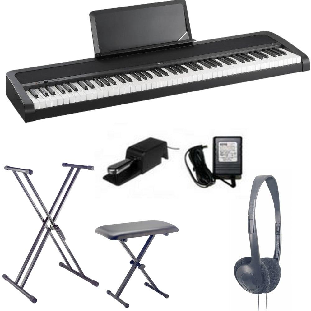 korg b1 digital piano black bundle with uk mainland delivery. Black Bedroom Furniture Sets. Home Design Ideas