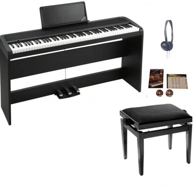 Korg B1SP Digital Piano with Stand | Black Package