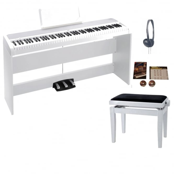 Korg B1SP Digital Piano with Stand | White Package