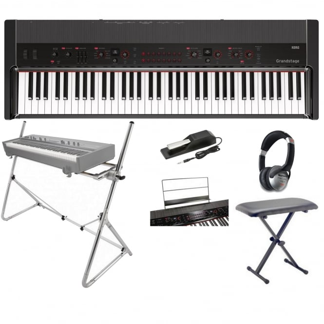 Korg Grandstage Piano GS173 Black With Stand Package