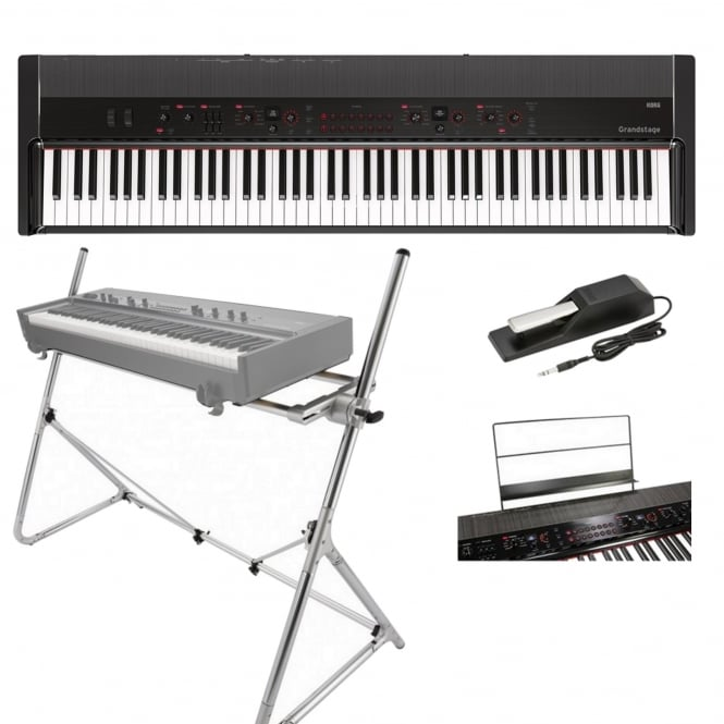 Korg Grandstage Piano GS188 Black Includes Stand