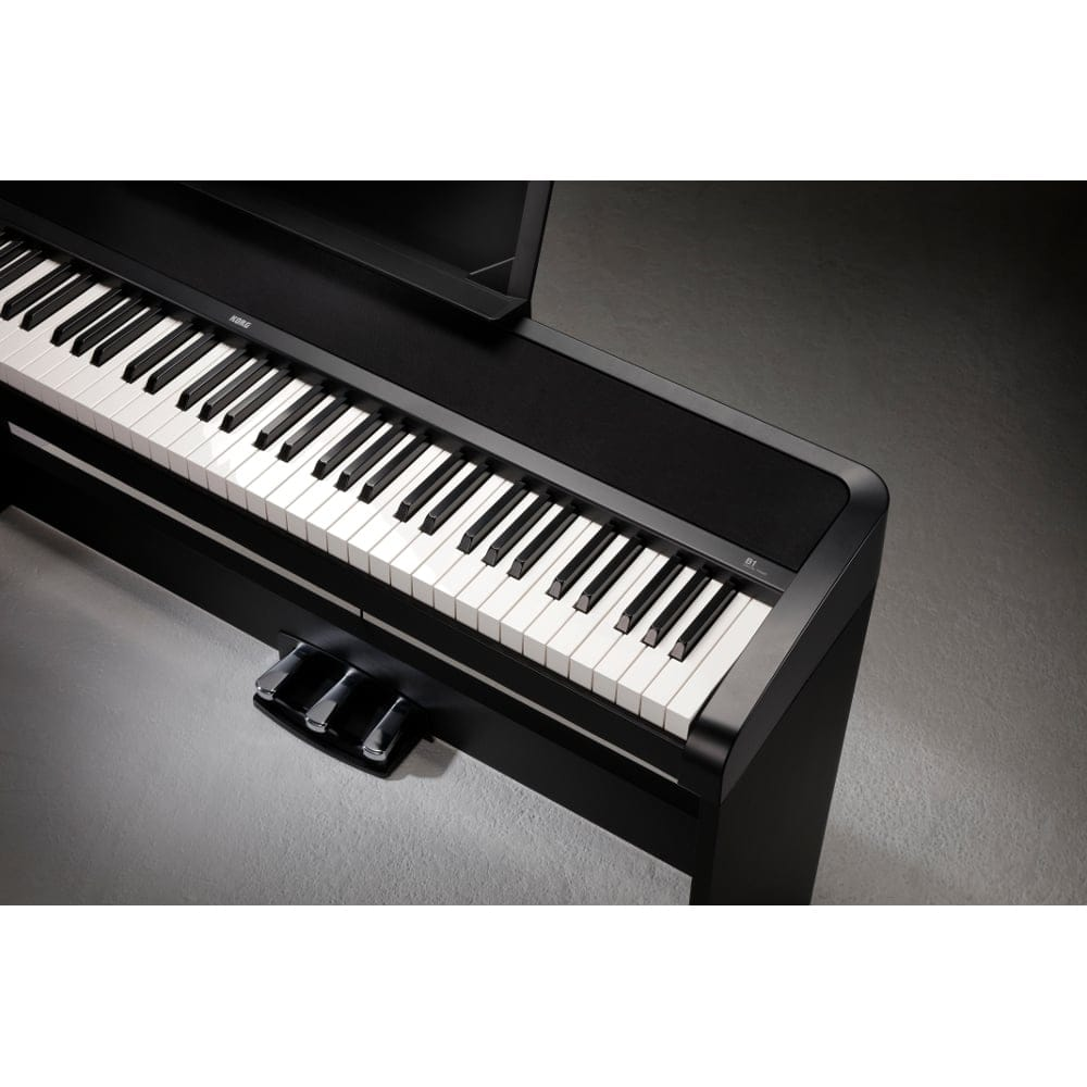 korg b1sp digital piano with stand black. Black Bedroom Furniture Sets. Home Design Ideas