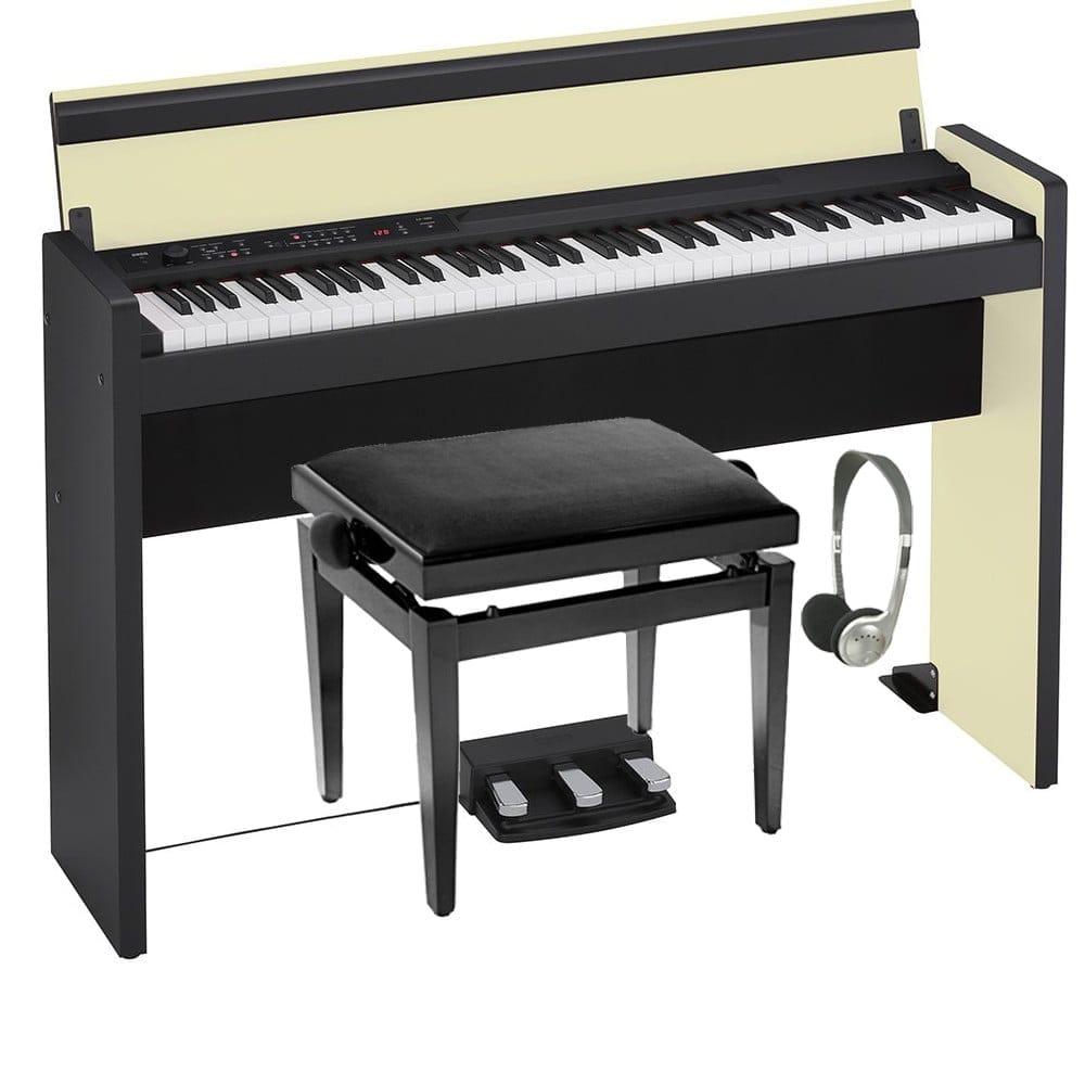 korg lp 380 73 pro bundle cream black. Black Bedroom Furniture Sets. Home Design Ideas