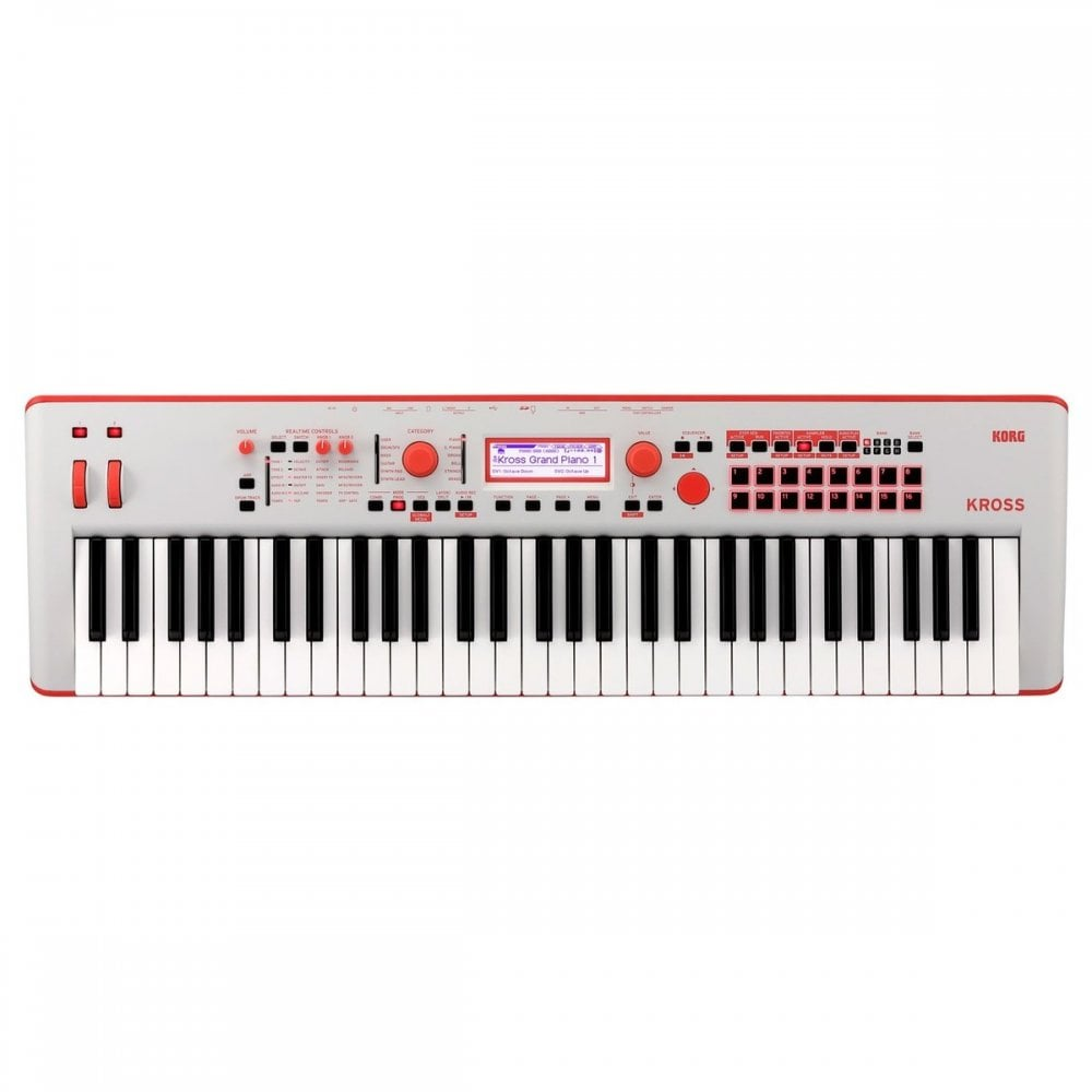 Korg Kross 2 61 Key Synth Workstation Neon Red Limited Edition
