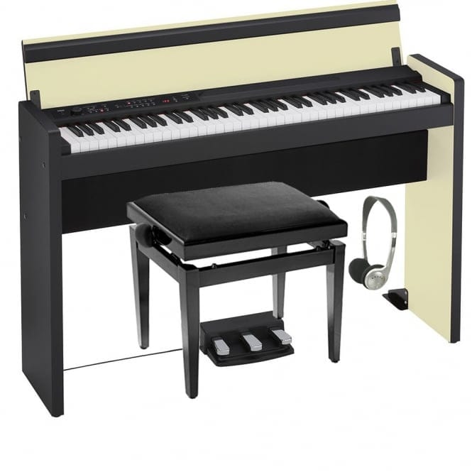Korg LP-380-73 Compact Digital Piano | Pro Bundle | Cream/Black