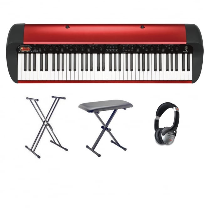 Korg SV-1 73 Note Stage Vintage Piano Metallic Red Package