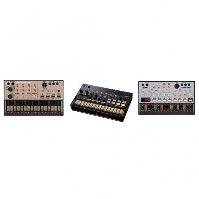 korg volca trio inc volca beats volca bass volca keys analog synth. Black Bedroom Furniture Sets. Home Design Ideas
