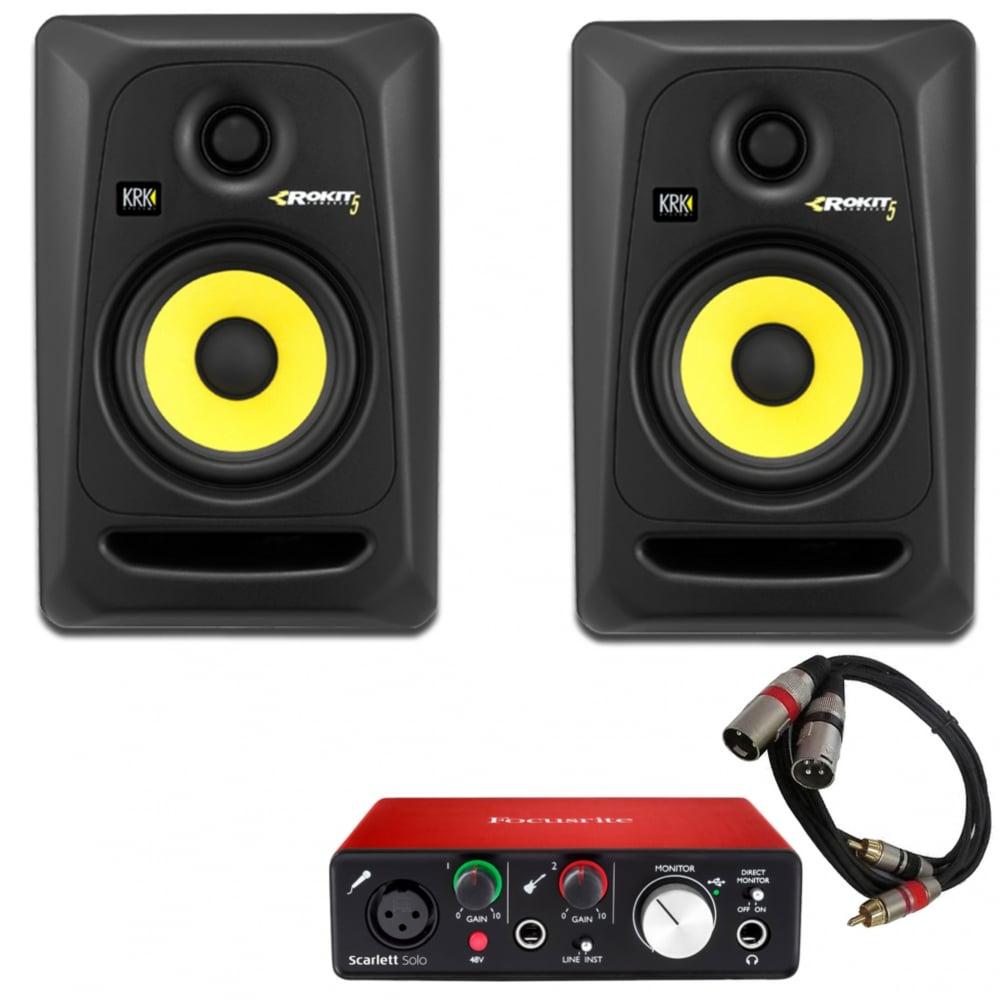 krk rp5 speakers focusrite scarlett solo audio interface. Black Bedroom Furniture Sets. Home Design Ideas