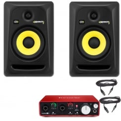 KRK RP6 Speakers & Focusrite Scarlett 2i2 Audio Interface | Studio Producer Bundle