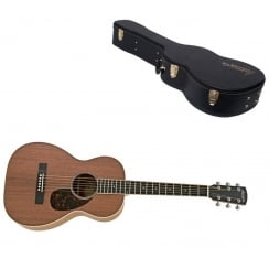P-03AM All Mahogany Parlour Acoustic Guitar, Natural |Includes Case