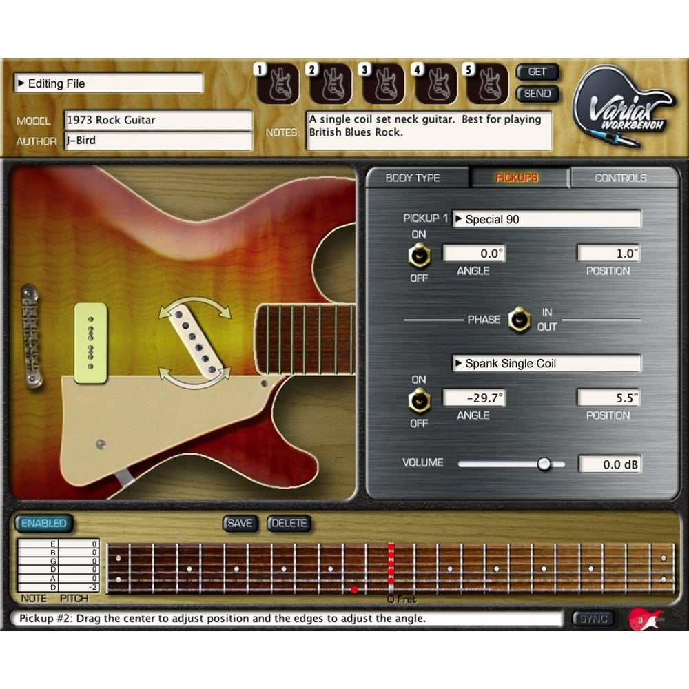 line6 variax workbench software from rimmers music. Black Bedroom Furniture Sets. Home Design Ideas