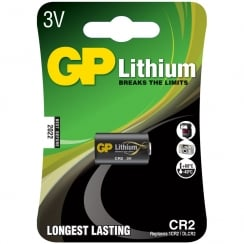GP Battery Lithium photo cell, CR2, 3V, packed 1 per blister - 15.6 x 27mm