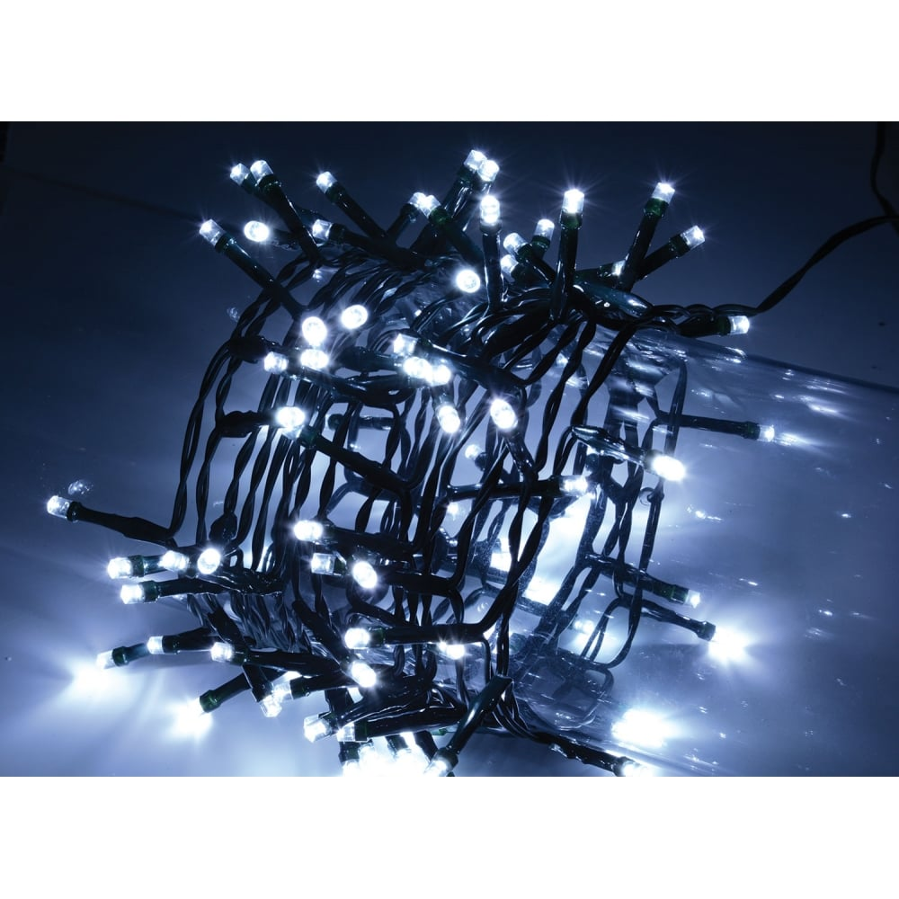 100 LED String Lights with Timer Control CW from Rocking Rooster