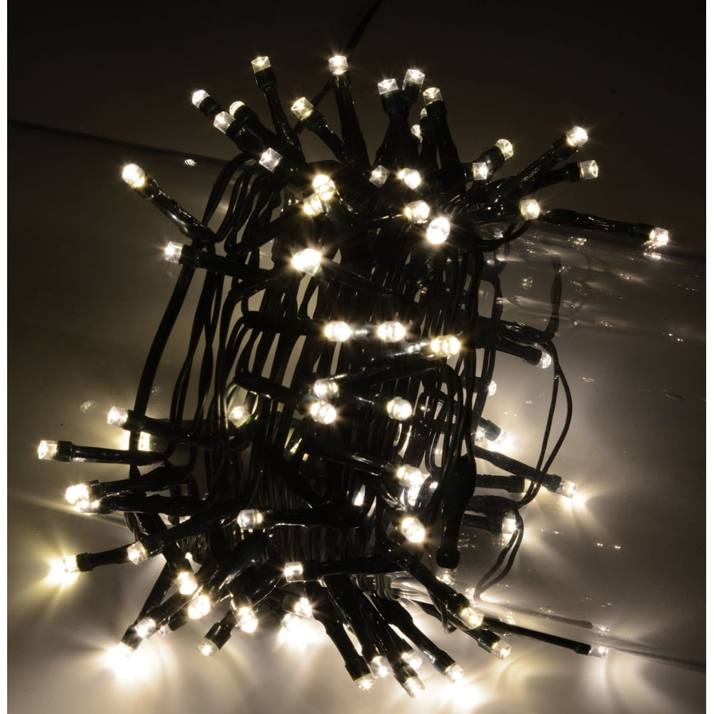 String Lights With Timer : 100 LED String Lights with Timer Control WW from Rocking Rooster
