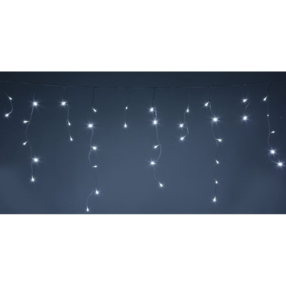 Led Icicle String Lights : 240 LED Icicle String Lights with Timer Control CW from Rocking Rooster