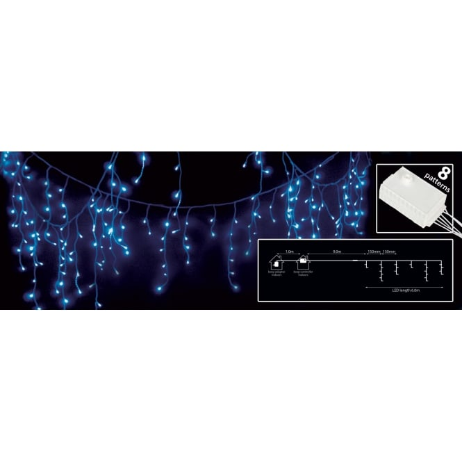 240 LEDs string icicle light - Blue from Rimmers Music