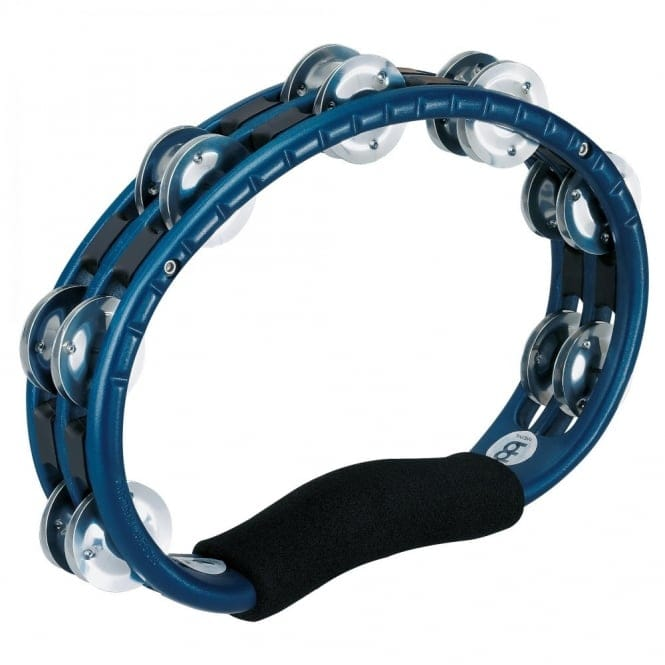 Meinl Handheld ABS Traditional Tambourine, Aluminum Jingles, Blue
