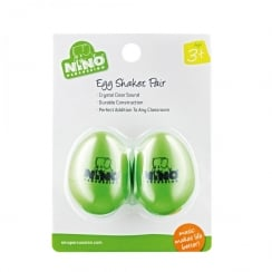 Nino Percussion Plastic Egg Shaker Pair, Grass-Green