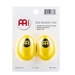 Meinl Plastic Egg Shaker, Yellow (Pair)