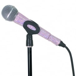 MicFx Corded Microphone Sleeve Glitter Effect Range (Colour Soft Pink)