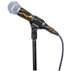 MicFx Corded Microphone Sleeve Hologram Range (Design Rock Flames Gold)