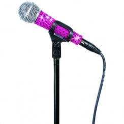 MicFx Corded Microphone Sleeve Sensation Range (Colour Pink)